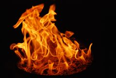 Flammes d'Inmaterial pour un feu spirituel Photo stock