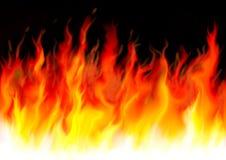Flammes dangereuses Photo stock