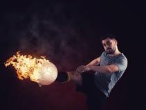 Flammes de boule image libre de droits