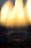 Flammes de brûleur à gaz photographie stock libre de droits