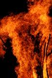Flammes de feu de camp Photographie stock