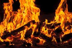 Flammes de flambage du feu photo stock