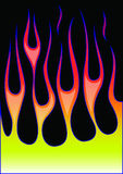 Flammes de hot rod illustration de vecteur