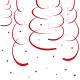 Flammes de papier et serpentines rouges Photos libres de droits