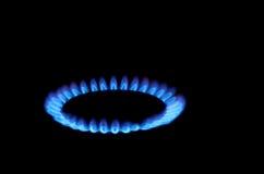Flammes de poêle de gaz Images libres de droits