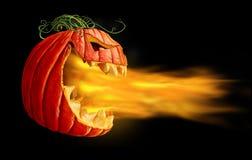 Flammes de potiron sur le noir illustration de vecteur