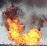 Flammes de roulement Image libre de droits