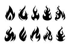 Flammes de vecteur Photo libre de droits