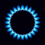 Flammes de vecteur du gaz Image stock