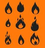 Flammes du feu, Photographie stock libre de droits