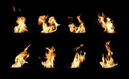 Flammes du feu du bois photographie stock libre de droits