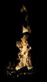 Flammes du feu brûlant d'isolement Photo libre de droits