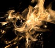 Flammes du feu brûlant d'isolement Photos libres de droits
