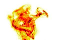 Flammes du feu sur le blanc images libres de droits