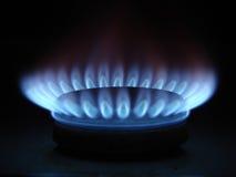 Flammes du gaz Image stock
