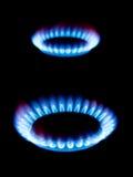 Flammes du gaz Photos stock