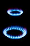 Flammes du gaz photo libre de droits