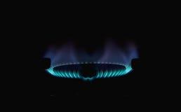Flammes du gaz image libre de droits
