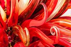 Flammes en verre rouges, une partie d'objet en verre Photos libres de droits