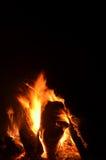 Flammes et braises 6 de feu de camp photos stock