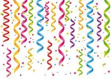 Flammes et confettis. Image stock
