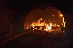Flammes et four Image libre de droits