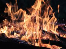 Flammes et incendie images stock