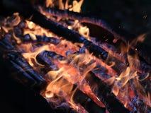 Flammes et incendie image stock