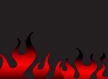 Flammes foncées Photos stock