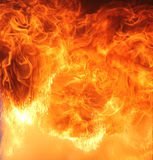 Flammes intenses Images libres de droits