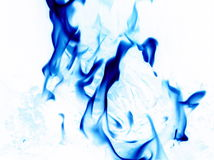 Flammes inversées Photo stock