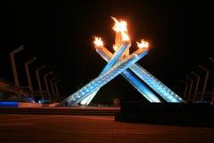 Flammes olympiques image libre de droits