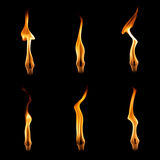 Flammes réglées Photographie stock libre de droits