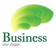 Flammes vertes de logo Photos libres de droits