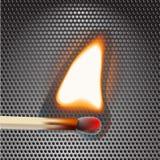 Flamming Match Stock Photography