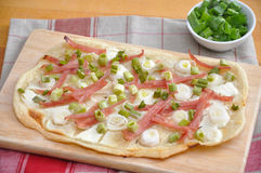 Flammkuchen Photographie stock
