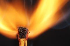 Flammmatch Royaltyfri Foto