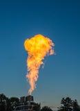 Flammor för skytte för propangasbrännare Royaltyfri Bild