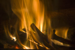 Flammor i branden Royaltyfri Bild