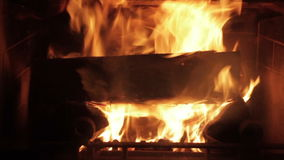 Flammor i en spis lager videofilmer