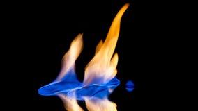 Flammor på spegeln Arkivbilder