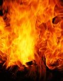 Flammt Nahaufnahme Lizenzfreie Stockbilder