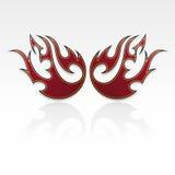 Flammt Stammes-/tatoo Lizenzfreie Stockfotos