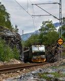 Flamsbana en Norvège Images libres de droits
