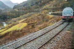 Scenic train line Flamsbana Royalty Free Stock Photos