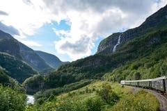 Flamsbana i Flaam, Norge Arkivbild
