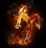 flamy женщина стоковые изображения