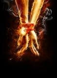 flamy händer royaltyfri foto