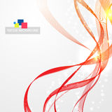 Flamy modern abstract lines Royalty Free Stock Photography