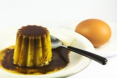 flan десерта стоковая фотография